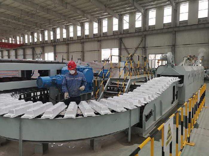 山西中润轻合金一期项目产品成功下线